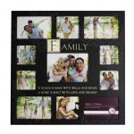 Black Family Collage 11 photo picture frame 45 x 45 cm